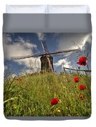 Windmill Poppies  Duvet Cover