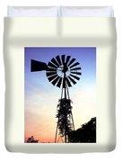 Windmill Silhouette Duvet Cover