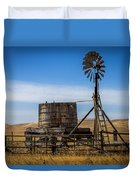 Windmill Water Pump Station Duvet Cover
