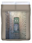Window Against The Wall Duvet Cover