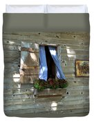 Window And Flowerbox Duvet Cover