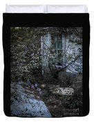 Window And Flowers Duvet Cover