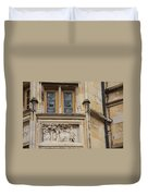 Window And Relief Palace Ducal Duvet Cover