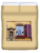 Window And Sculpture Duvet Cover