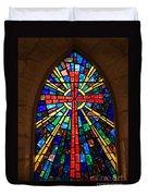 Window At The Little Church In La Villita Duvet Cover