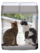 Window Cats Duvet Cover