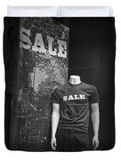 Window Display Sale In Black And White Photograph With Mannequin No.0129 Duvet Cover