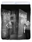 Window Display Sale With Mannequins No.1292 Duvet Cover