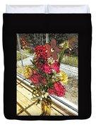Window Flowers Duvet Cover