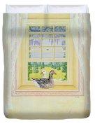 Window Geese Duvet Cover