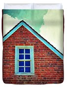 Window In Brick House Duvet Cover