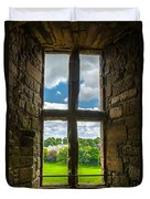 Window In Linlithgow Palace With View To A Beautiful Scottish Landscape Duvet Cover