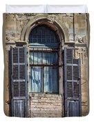 Window In Tel Aviv Duvet Cover