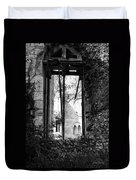 Window Of Haunted Abbey Duvet Cover