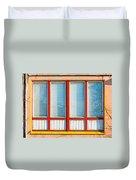 Window Of Soviet Building Duvet Cover