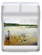 Window On The Waterfront Duvet Cover