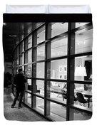 Window Shopping In The Dark Duvet Cover