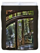 Window To A Window Via Tree Duvet Cover