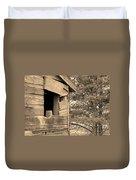 Window To Nowhere - Sepia Duvet Cover