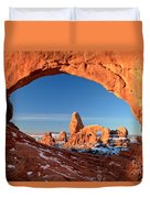 Window To Turret Arch Duvet Cover