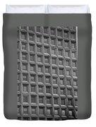 Windows In Black And White Duvet Cover