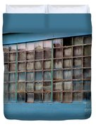 Windows In Blue Building 3 Duvet Cover