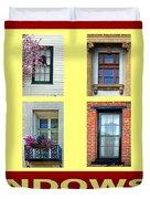 Windows Of Opportunity Duvet Cover