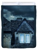 Windows On Stormy Night Duvet Cover