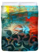 Winds Of Change - Abstract Art Duvet Cover