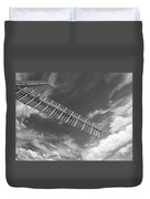 Winds Of Time Black And White Duvet Cover