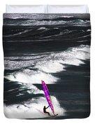 Windsurfing Man Duvet Cover