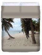 Windswept Palms Duvet Cover