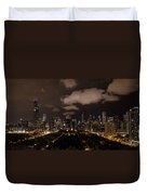 Windy City At Night Duvet Cover
