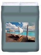 Windy Day At Maldives Duvet Cover