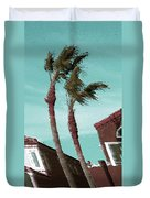 Windy Day By The Ocean  Duvet Cover