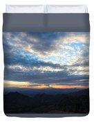 Windy Point Sunset Duvet Cover