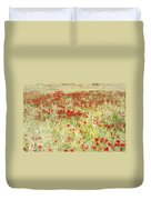 Windy Poppies At The Fields Duvet Cover