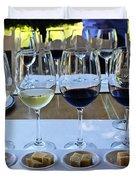 Wine And Cheese Tasting Duvet Cover by Kurt Van Wagner