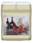 Wine And Pomegranates Duvet Cover