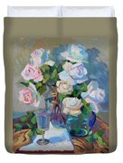 Wine And Roses Duvet Cover