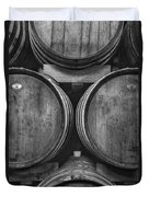 Wine Barrels Monochrome Duvet Cover