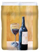 Wine Bottle Still Life Duvet Cover by Todd Bandy