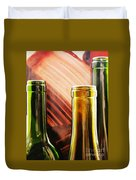 Wine Bottles 2 Duvet Cover