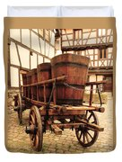 Wine Cart In Alsace France Duvet Cover by Greg Matchick
