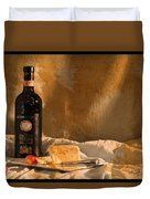 Wine Cherries And Cheese Duvet Cover