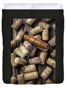 Wine Corks Celebration Duvet Cover
