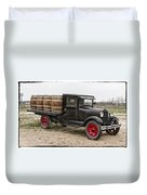 Wine Delivery Truck Duvet Cover