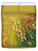 Wine Grapes Duvet Cover
