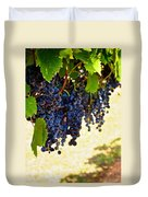 Wine Grapes Duvet Cover by Kristina Deane