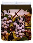 Wine Grapes On The Vine Duvet Cover